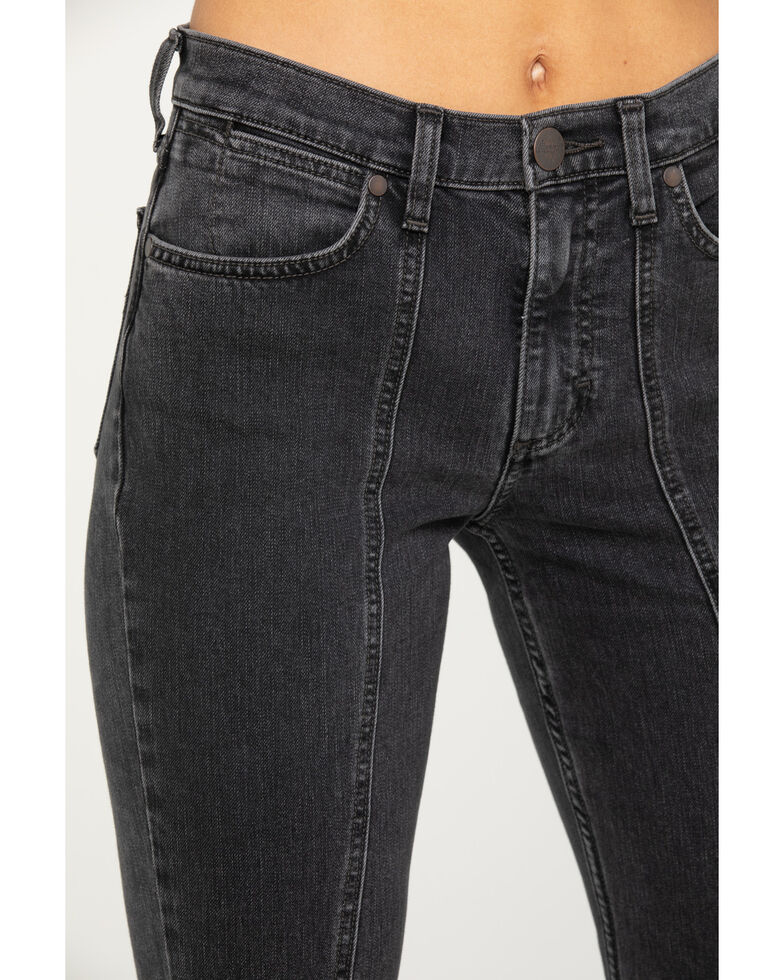 Wrangler Modern Women's Charcoal Seamed Flare Jeans, Charcoal, hi-res