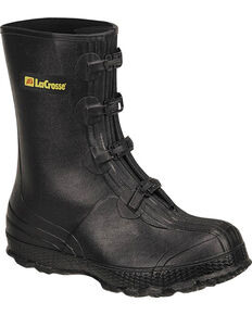 LaCrosse Men's Z-Series Overshoes Rubber Boots - Round Toe, Black, hi-res