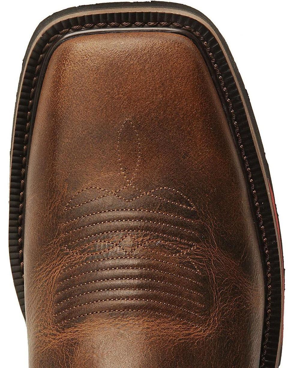 Justin Men's Hybred Rugged Tan EH Western Work Boots - Square Toe, Tan, hi-res