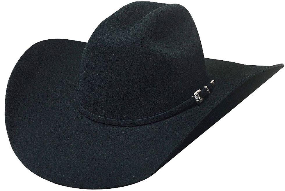 Bullhide Broken Horn 4X Wool Felt Cowboy Hat, Black, hi-res