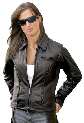Milwaukee Motorcycle Electra Leather Jacket - Reg, Black, hi-res