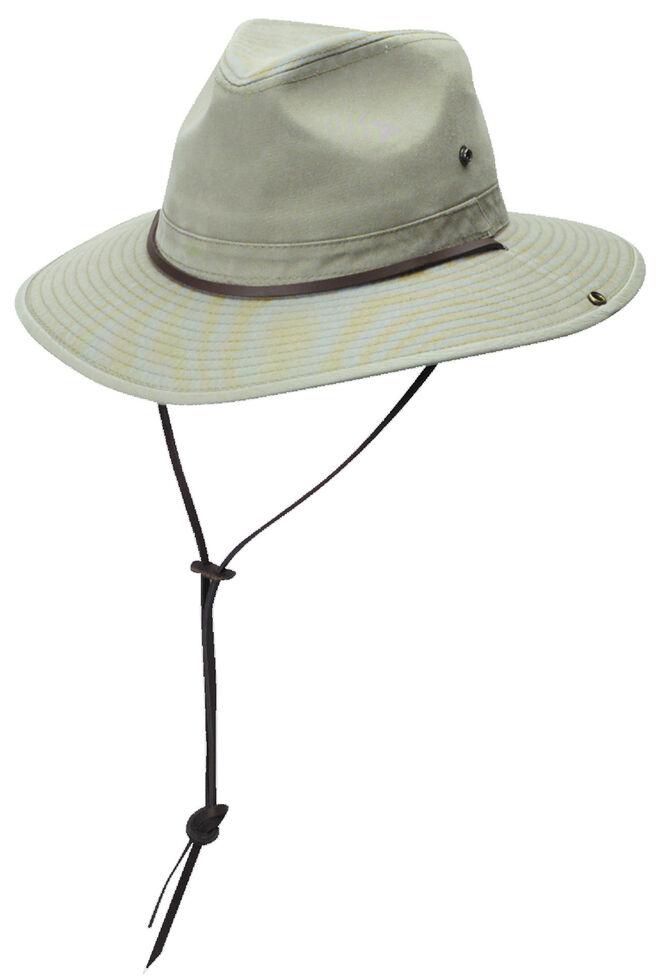 DPC Authentic Khaki Safari Hat with Side Snaps  bb4b4d3c247