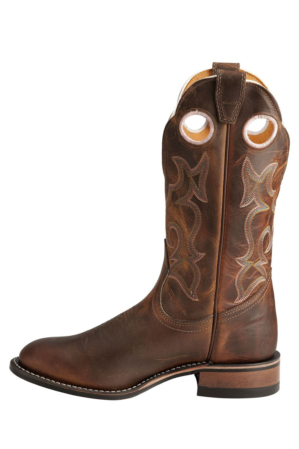 Boulet Tan Spice Rider Cowgirl Boots - Round Toe, Tan, hi-res
