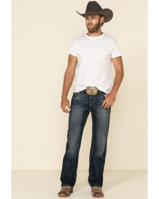 Rock & Roll Denim Men's Dark Vintage Double Barrel Relaxed Straight Jeans , Indigo, hi-res