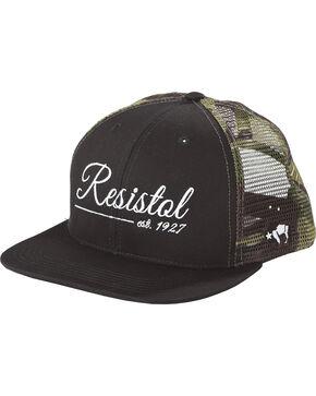 Hooey Men's Black Resistol 6 Panel Baseball Cap , Black, hi-res