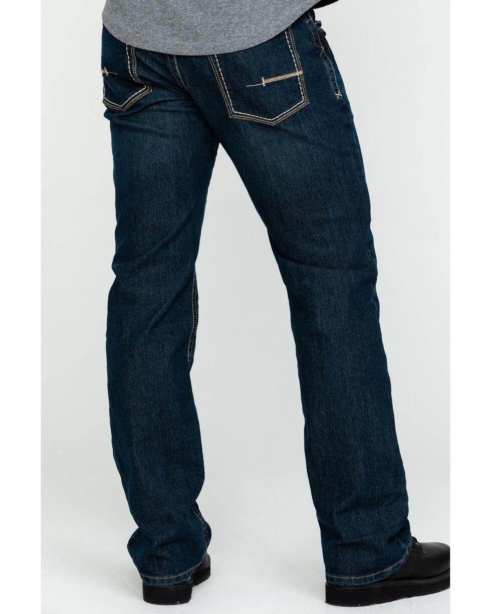 Ariat Men's Jeans - M4 Rebar Bootcut Dark Wash Relaxed Fit, Denim, hi-res
