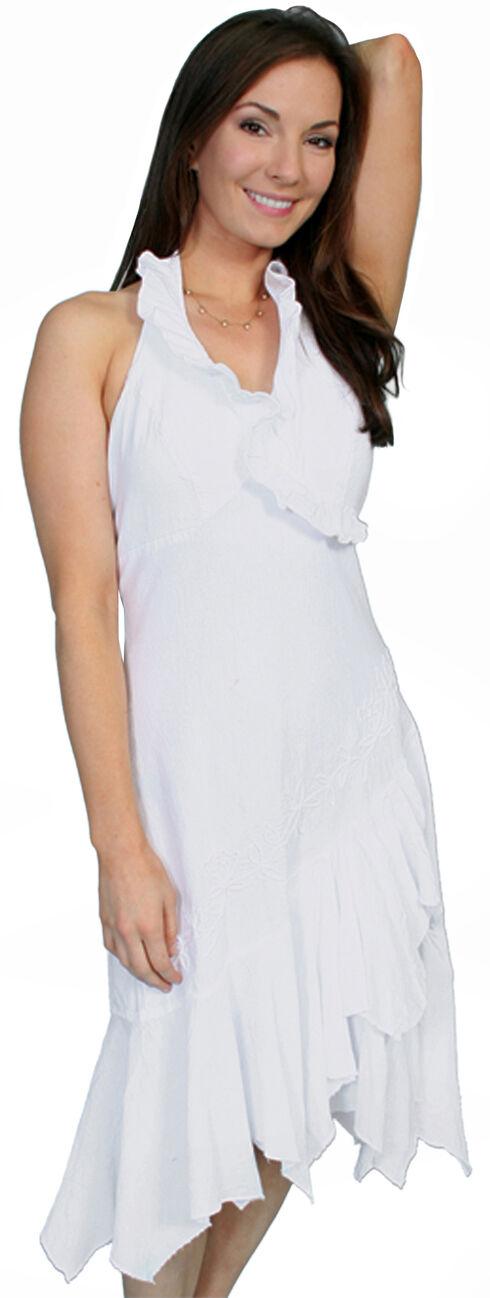 Scully Peruvian Cotton Halter Dress, White, hi-res