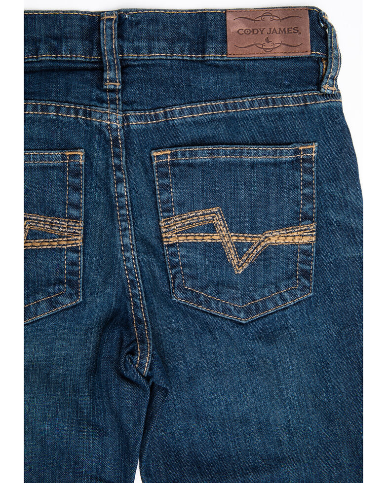 Cody James Boys' 4-8 Saguaro Dark Stretch Relaxed Straight Jeans , Blue, hi-res
