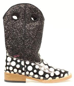 Blazin Roxx Girls' Pearl Polka Dot Glitter Boots, Black, hi-res