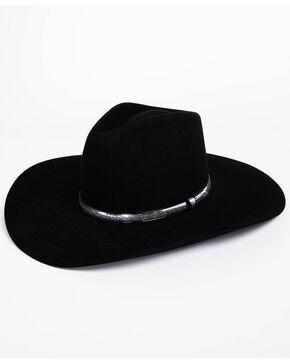 Resistol Men's John Wayne War Wagon 6x Felt Cowboy Hat, Black, hi-res