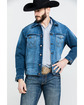 Wrangler Men's Cowboy Cut Button Front Denim Jacket , Indigo, hi-res