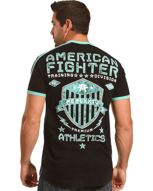 American Fighter Men's Black Park Ridge Tee , Black, hi-res