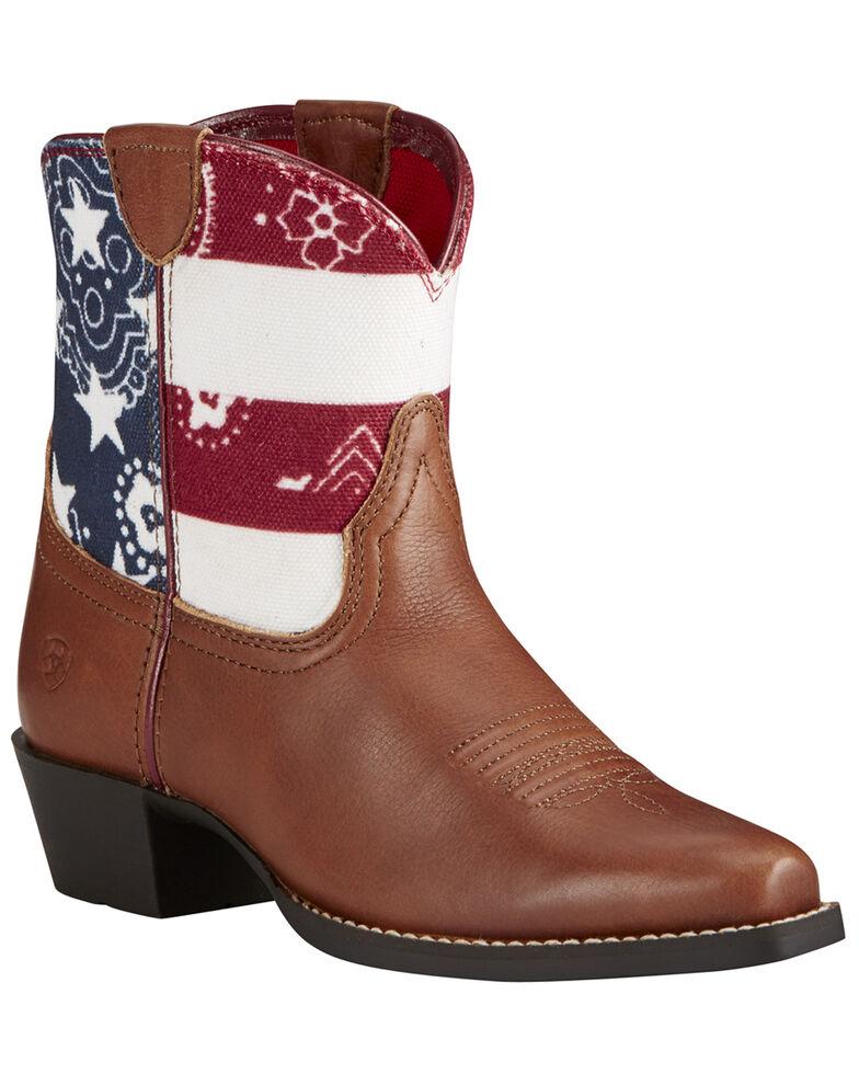 Ariat Kid's Brown July Boots - Snip Toe, Brown, hi-res