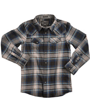 Cody James Boys' Steam Liner Flannel Shirt, Multi, hi-res