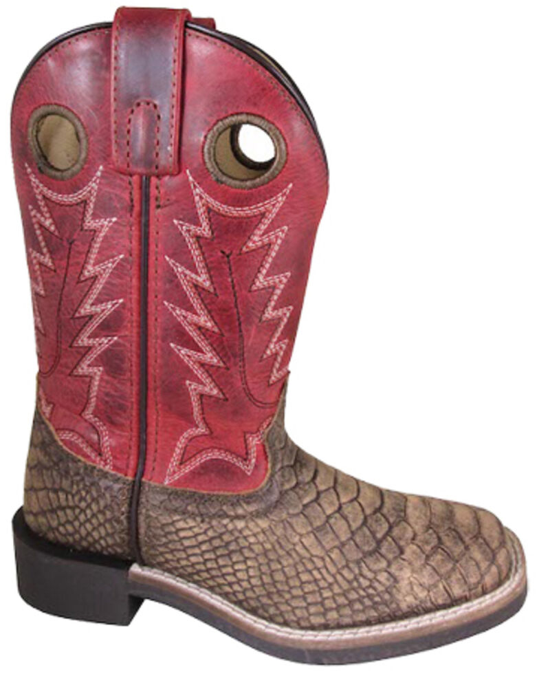 Smoky Mountain Boys' Viper Western Boots - Square Toe, Brown, hi-res