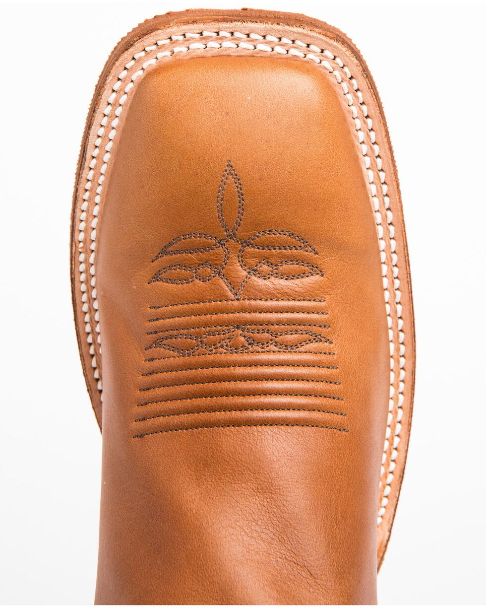 Justin Men's Bent Rail Cowboy Boots - Square Toe, Copper, hi-res