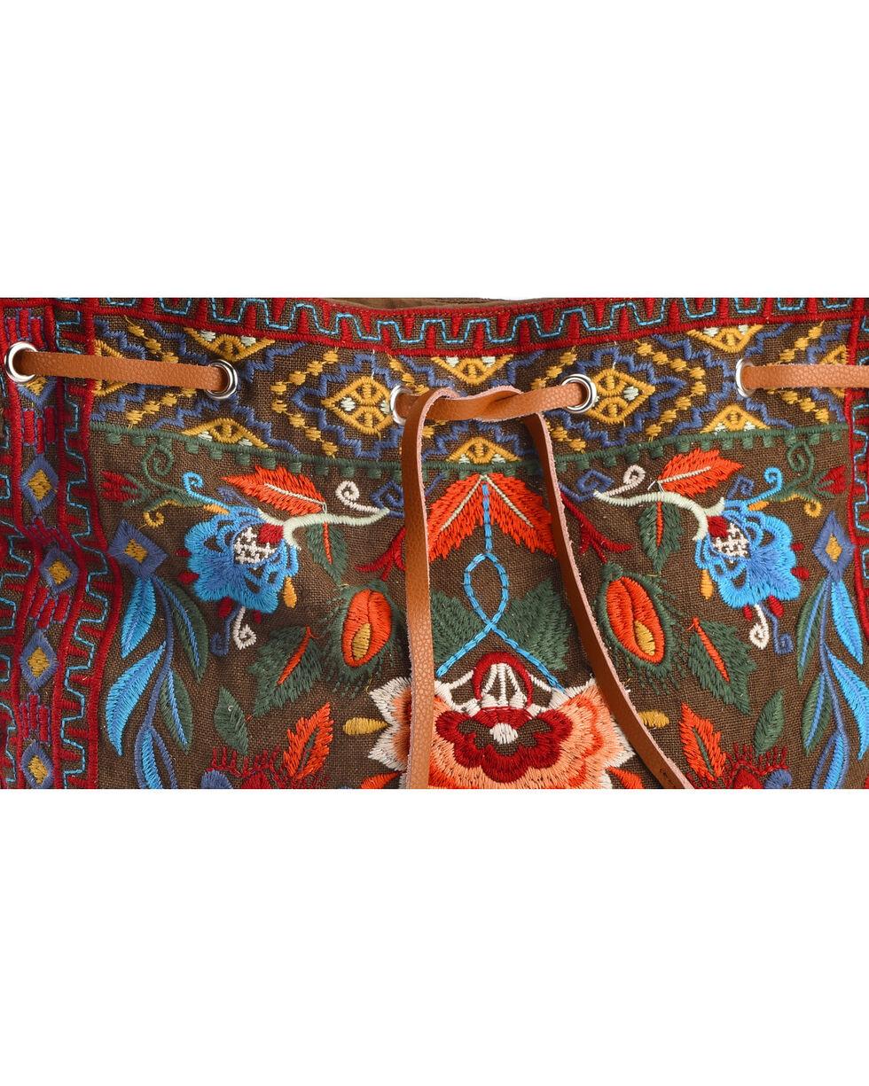 Johnny Was Women's Izamal Embroidered Drawstring Tote Bag , , hi-res