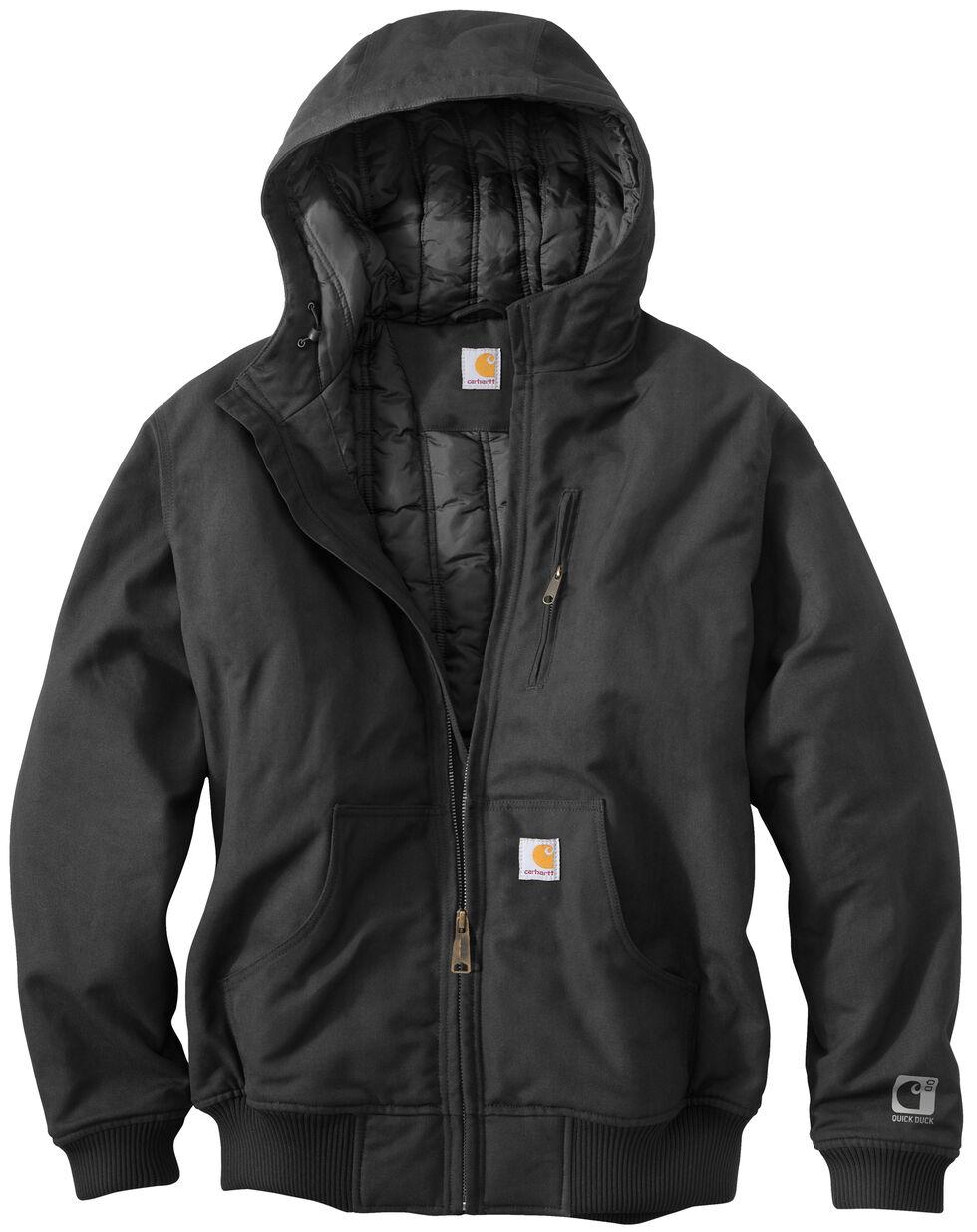Carhartt Men's Quick Duck Jefferson Active Jacket, Black, hi-res