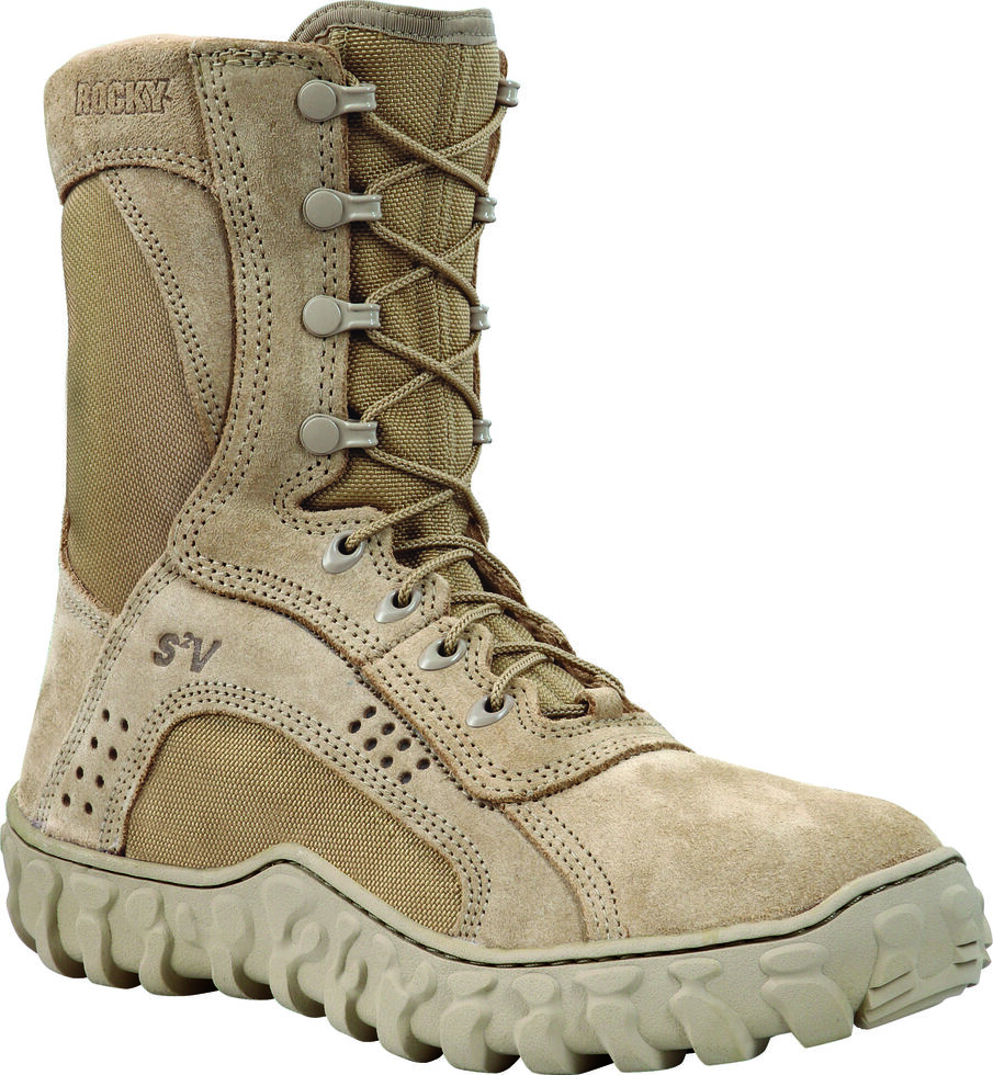Rocky S2V Tactical Military Boots - Steel Toe, Tan, hi-res