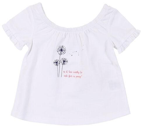 Wrangler Toddler Girls' White Screen Print Short Sleeve Shirt, White, hi-res
