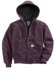Carhartt Women's Active Duck Quilted Work Jacket, Plum, hi-res