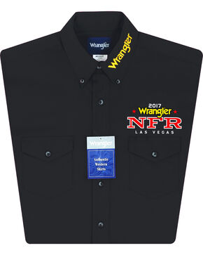 Wrangler Men's Black NFR Logo Long Sleeve Shirt , Black, hi-res