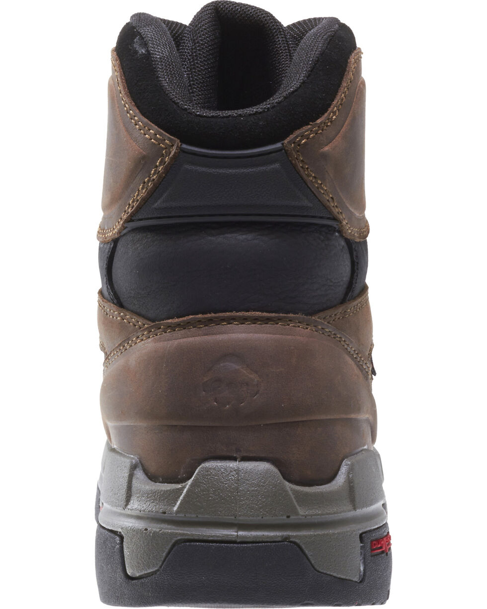 "Wolverine Men's Legend Durashocks 6"" Work Boots - Soft Toe, Dark Brown, hi-res"