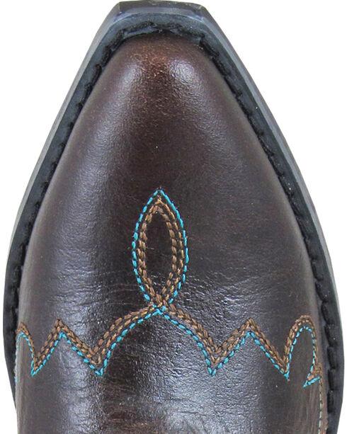 Smoky Mountain Girls' Juniper Short Western Boot - Snip Toe, Dark Brown, hi-res