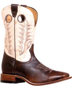 Boulet Men's Challenger Desert Bone Cowboy Boots - Square Toe, Brown, hi-res