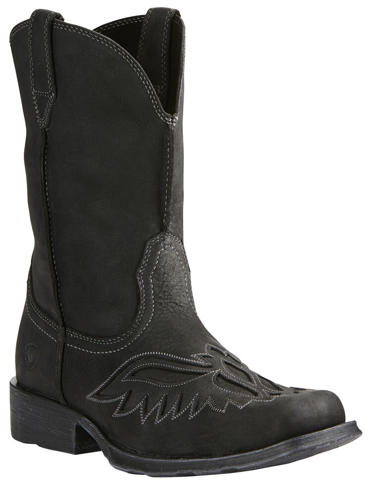 Ariat Men's Rambler® Renegade Boots - Square Toe, Black, hi-res