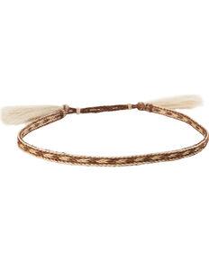 Cody James Men's Braided Horsehair Hat Band , Brown, hi-res