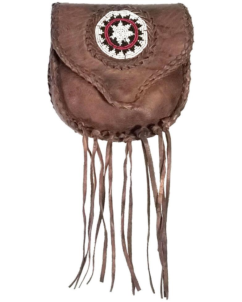 Kobler Leather Women's Beaded Clip Bag, Dark Brown, hi-res