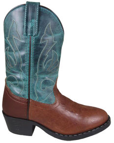 Smoky Mountain Youth Boys' Nashville Western Boots - Square Toe, Brown, hi-res