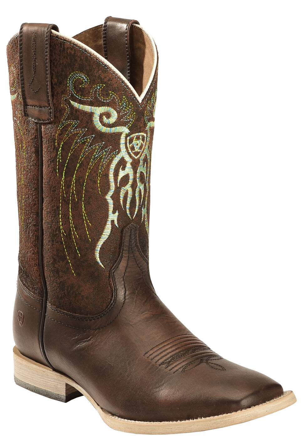 Ariat Boys' Copper Mesteno Boots - Wide Square Toe , Copper, hi-res