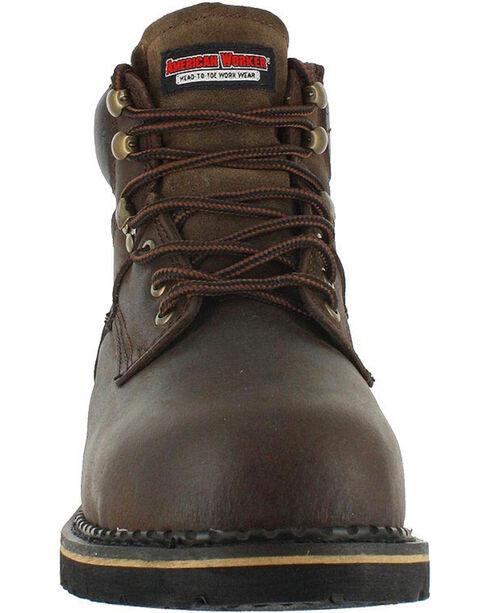 American Worker Men's Steel Toe Work Boots - Steel Toe, Brown, hi-res