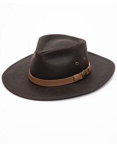 a9e00d6ae576d3 Outback Trading Co. Kodiak Oilskin Hat, Brown, hi-res