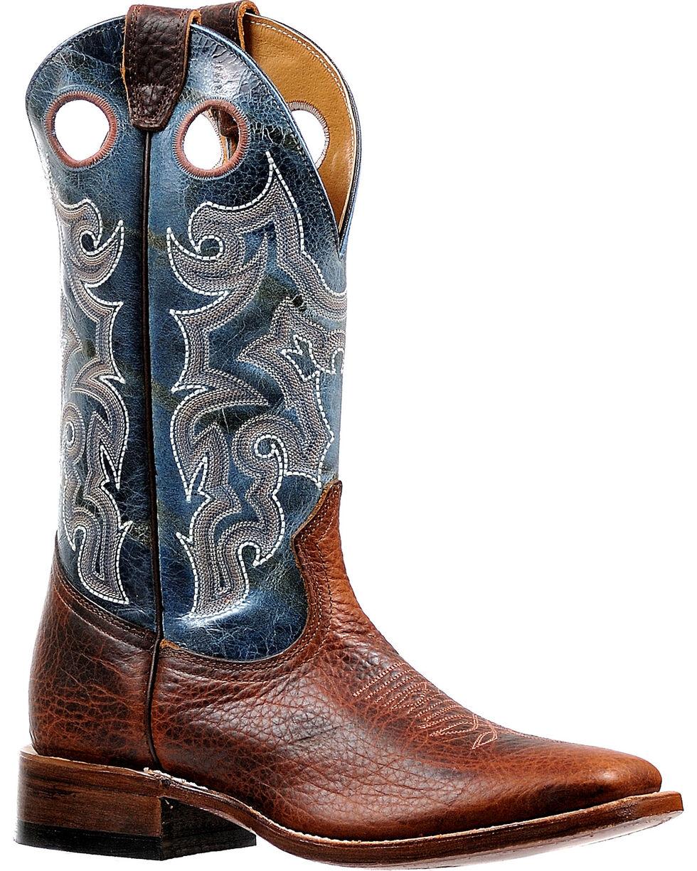 Boulet Men's Puma Turqueza Stockman Cowboy Boots - Square Toe, Brown, hi-res