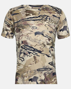 Under Armour Men's Barren Iso-Chill Brushline Short Sleeve Work Shirt , Camouflage, hi-res