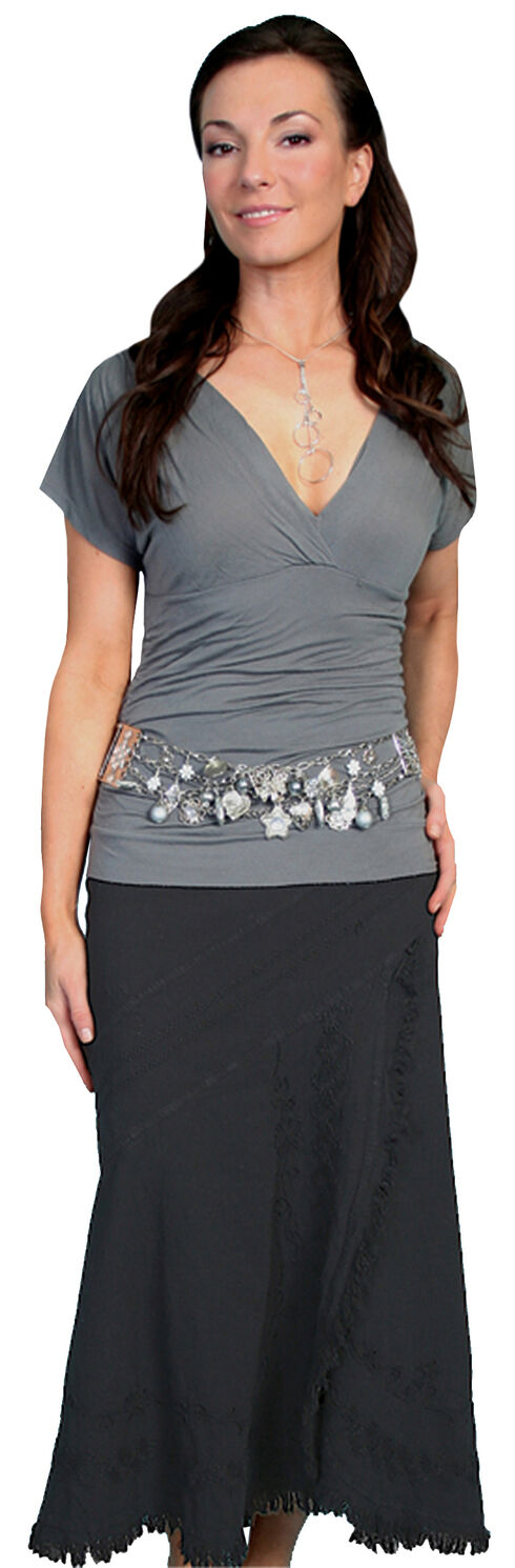 Scully Embroidered Western Skirt, Black, hi-res