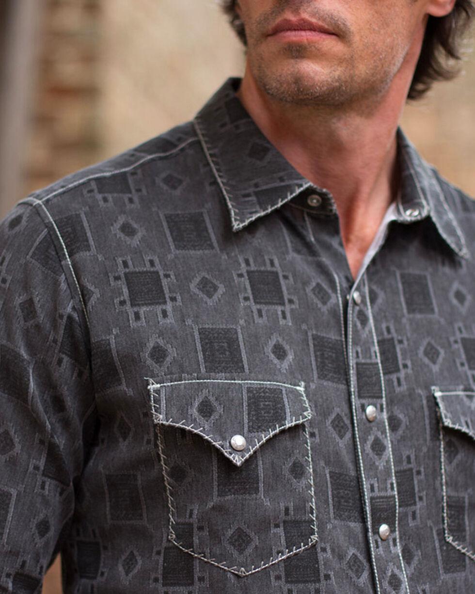 Ryan Michael Men's Brisket Whip Stitch Tile Jacquard Shirt , Grey, hi-res