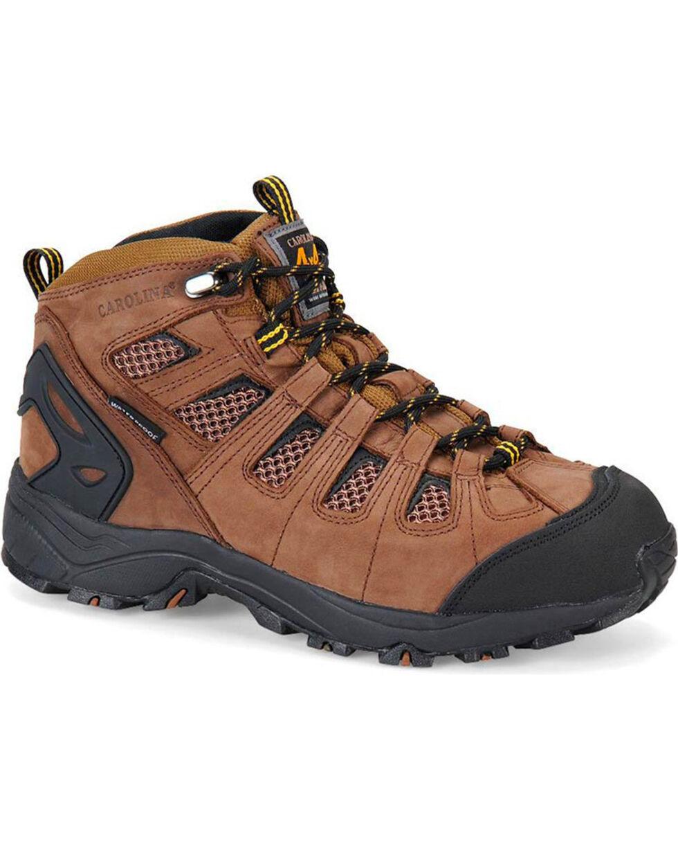 "Carolina Men's 6"" Waterproof 4x4 Hiker Boots - Comp Toe, Brown, hi-res"