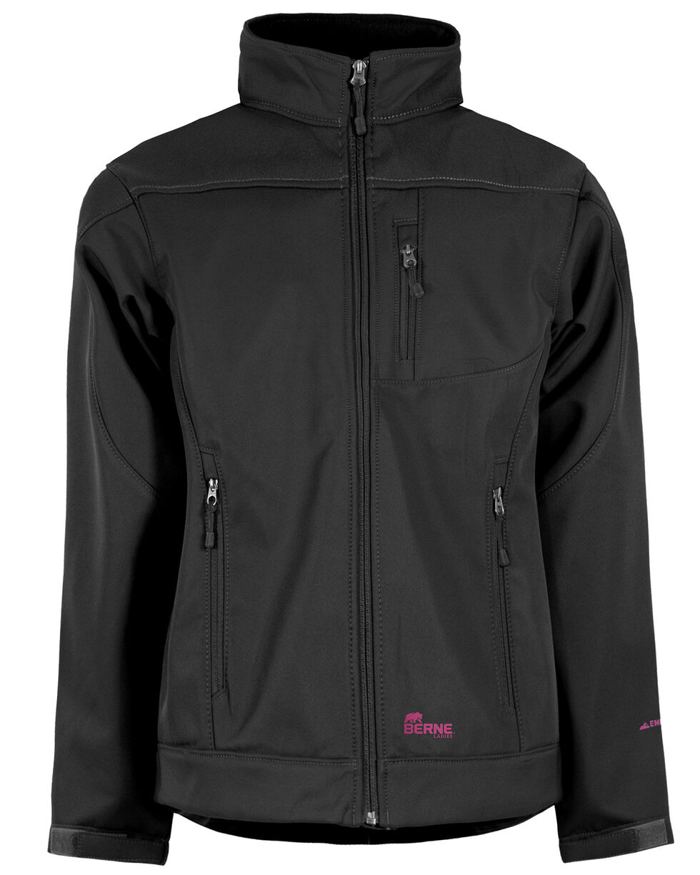 Berne Women's Eiger Softshell Jacket, Black, hi-res