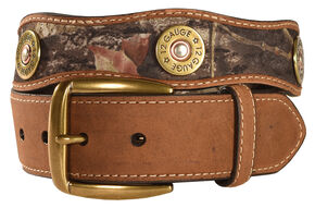 Nocona Mossy Oak Camo 12 Gauge Shotgun Shell Belt, Camouflage, hi-res
