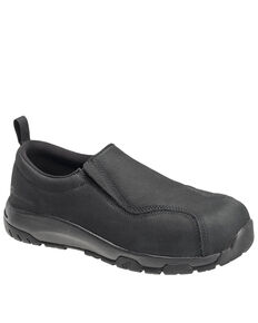 Nautilus Men's Slip-On Work Shoes - Composite Toe, Black, hi-res