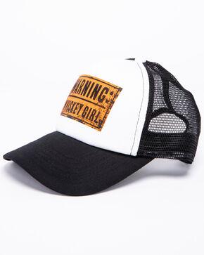 Shyanne Women's Warning Whiskey Girl Trucker Hat, Black, hi-res