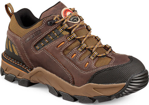 Red Wing Irish Setter Two Harbors Hiker Abrasion-Resistant Work Boots - Soft Toe , Brown, hi-res