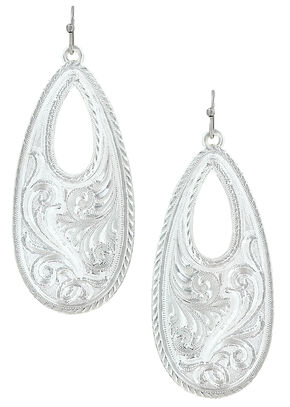 Montana Silversmiths Winter's Forever Basket Earrings , Silver, hi-res