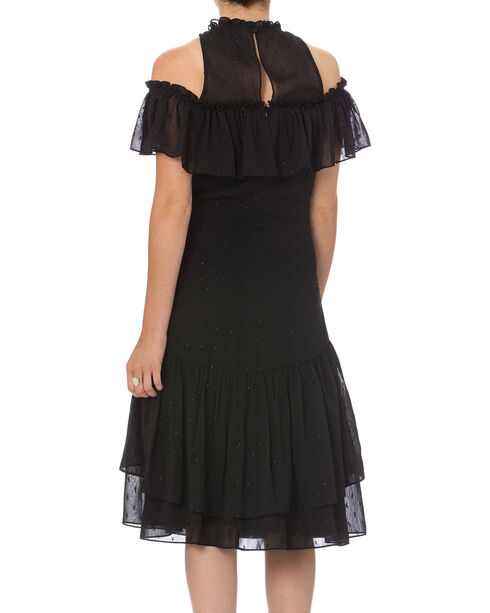 Miss Me Women's Black On Your Radar Cold Shoulder Dress , Black, hi-res