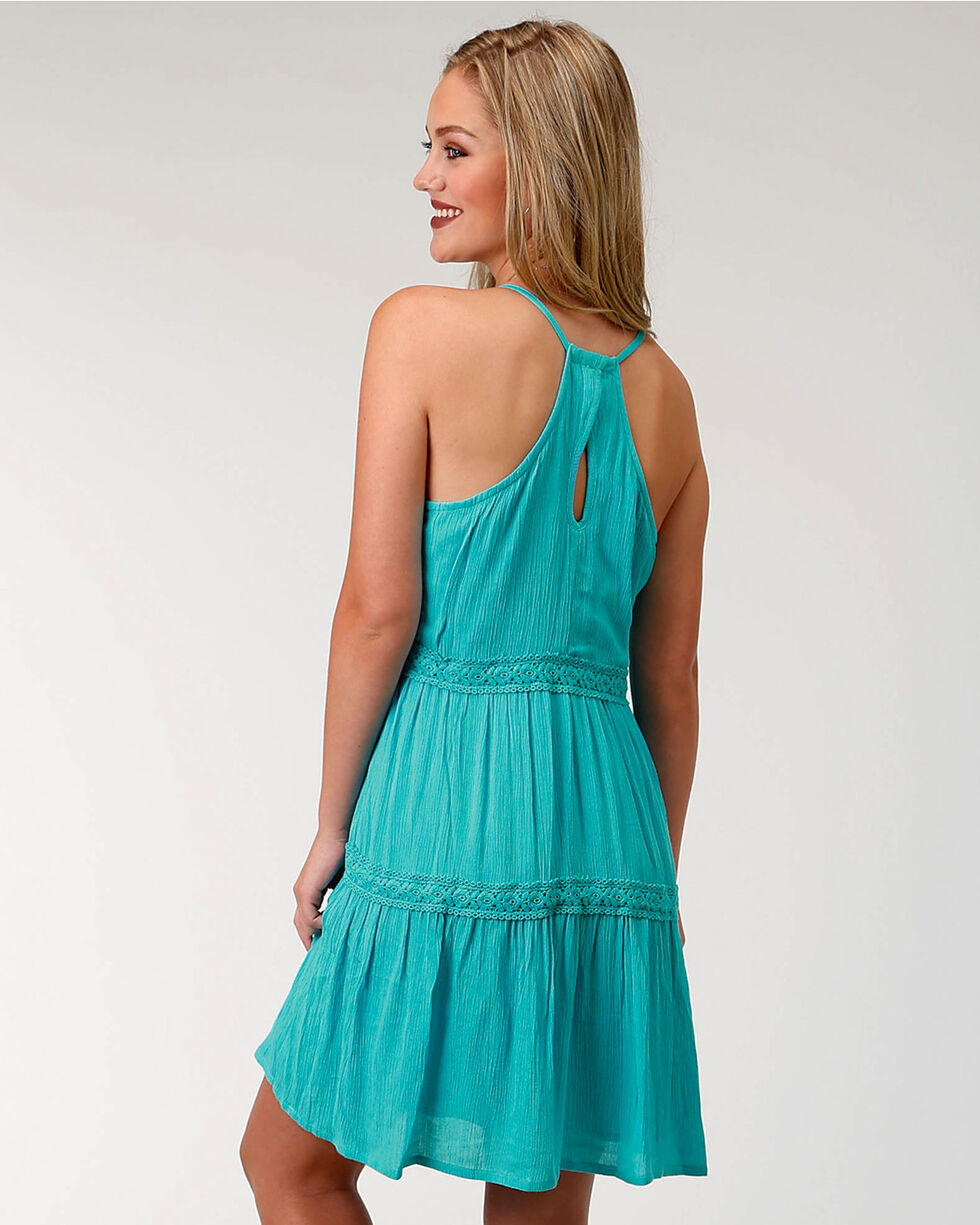 Roper Women's Turquoise Tiered Sundress, , hi-res