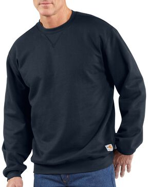 Carhartt Flame Resistant Heavyweight Crewneck Sweatshirt, Navy, hi-res